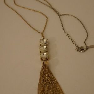 Natasha  Tassel Necklace 34""